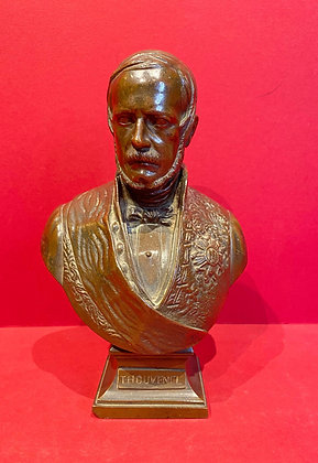 Victorian Bronze Bust of French Statesman Thouvenel