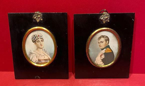 Portrait Miniatures of Napoleon & Josephine Bonaparte