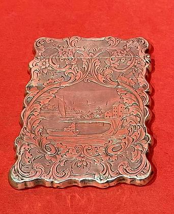 Victorian Silver Carte de Visite Case