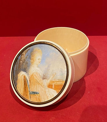 Early 19th Century Ivory Portrait Box