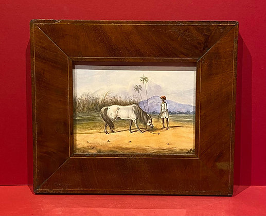 Victorian North African Watercolour Scene with inlaid frame
