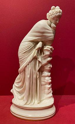 19th Century Kerr & Binns Worcester Porcelain of 'Pensive Muse'