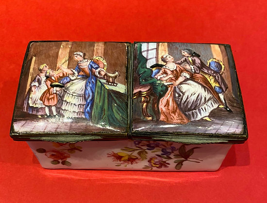Late 18th Century Enamel Box with Double Chamber