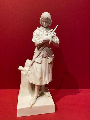 Parian Porcelain figure of Saint Joan of Arc