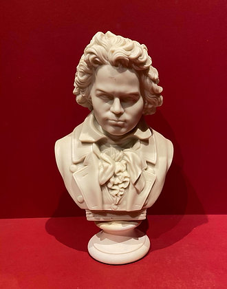 Late Victorian Parian Bust of Beethoven