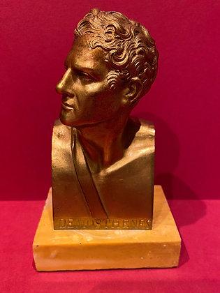 Victorian Bronze Gilt Bust of Demosthenes