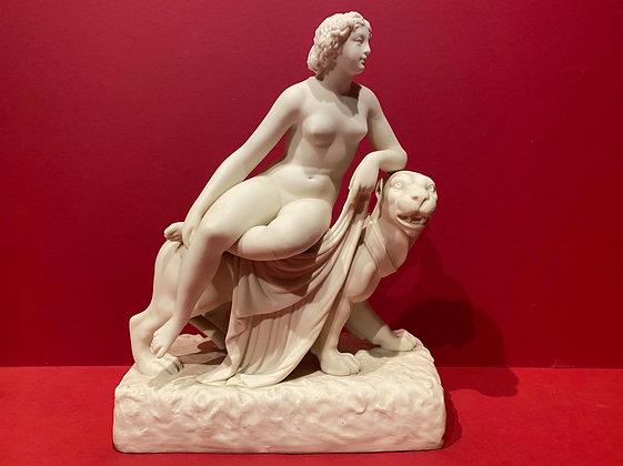 Parian figure of Ariadne and the Panther