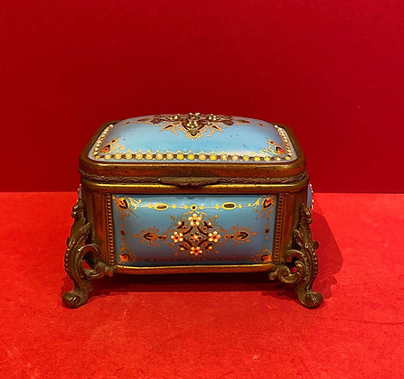 Blue Enamel Sevres Box