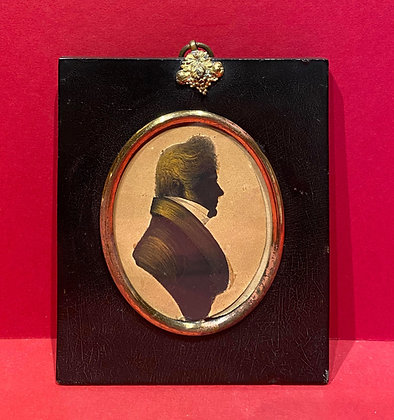 Painted Early 19th Century Silhouette