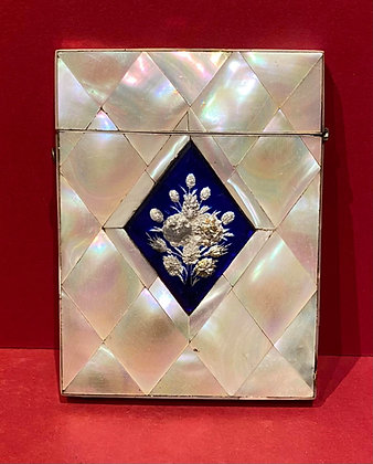 Victorian Mother of Pearl Visiting Card Case