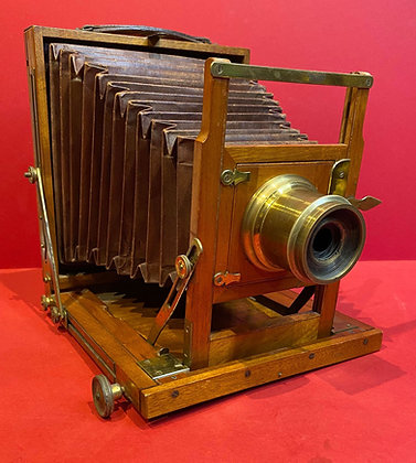 Large Wooden Bellows Camera