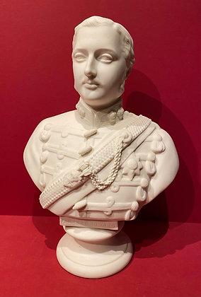 1864 Parian Bust of Prince Albert Edward