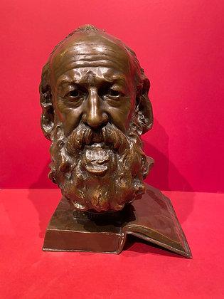 Bronze Bust of Philosopher: Gaston Bachelard