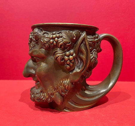 Early 19th Century Bronze Dionysian Wine Cup