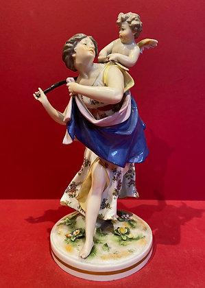Naplesware figure of Muse and Amorino