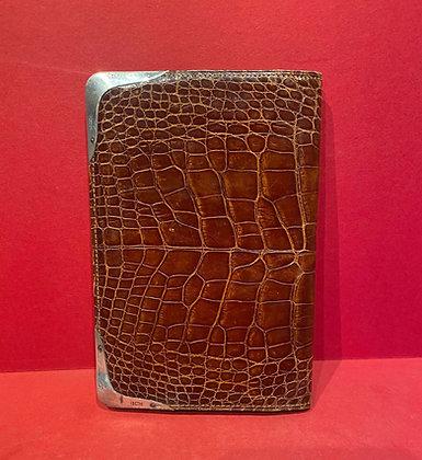 Edwardian Gentleman's Wallet in Crocodile Skin