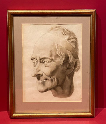 Watercolour Pencil Wash of Philosopher Voltaire