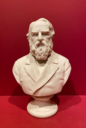 Victorian Parian Bust of Longfellow