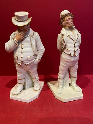 Pair of Royal Worcester Porcelain Figures