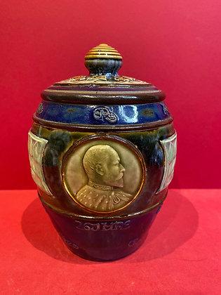 Royal Doulton Edward VII Tea Caddy