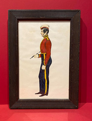 19th Century Full Figure Profile of Military Gentleman