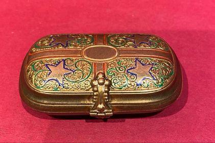 19th Century miniature enameled Purse
