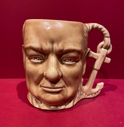 Monochrome Churchill Toby Jug