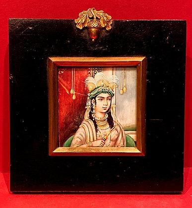 19th Century Mughal Portrait Miniature