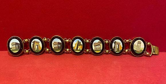 Early Grande Tour Micro Mosaic Bracelet
