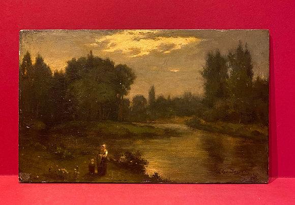 Victorian Oil on Panel