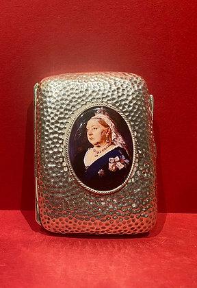 1901 Sterling Silver Queen Victoria Cigarette Case