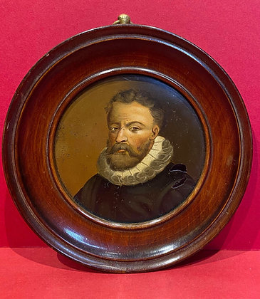 Portrait Miniature of Jacobean Gentleman