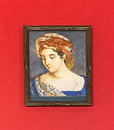 Victorian Portrait Miniature of Renaissance subject