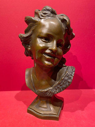 Bronze Bust of Roubiliac's Laughing Child