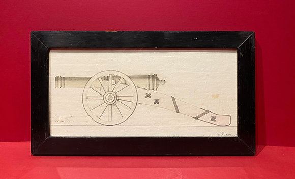 Draughtmans Sketch of Field Cannon (signed v. Braun)