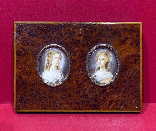 19th Century Double Portrait Miniature