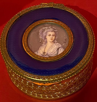 19th Century signed Portrait Box