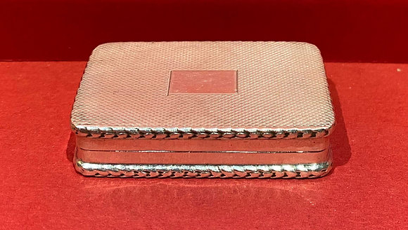 Edwardian Silver Snuff Box
