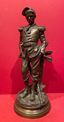 Victorian Signed Bronze of Soldier