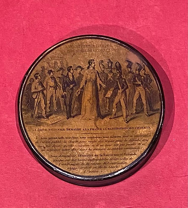 French Revolution Papier Mache Snuff Box