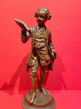 19th Century Bronze figure of young Mozart