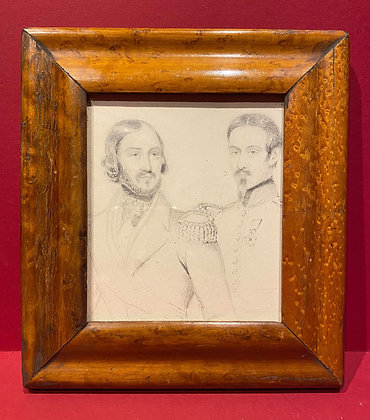 19th Century French Military Pencil Sketch