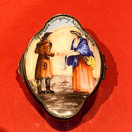 Late 18th Century 'Cries of London' Enamel Box