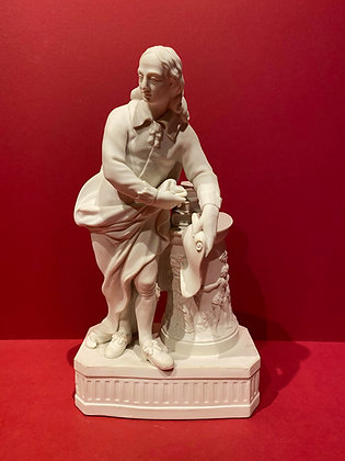 Parian figure of John Milton