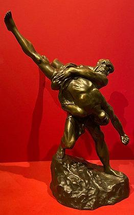 Hercules & Antaeus Bronze
