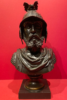 19th Century Bronze Bust of Soldier
