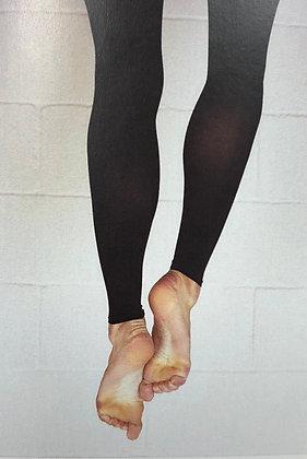 Calze Coè nere senza piede