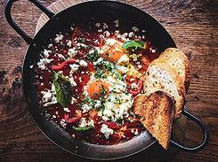 cafe brunch baked eggs st kilda