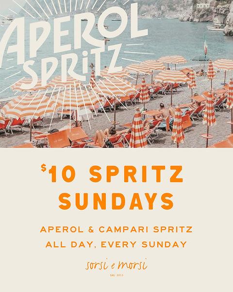 $10 aperol, cocktail specials, drink specials, spritz, campari, cheap drinks.
