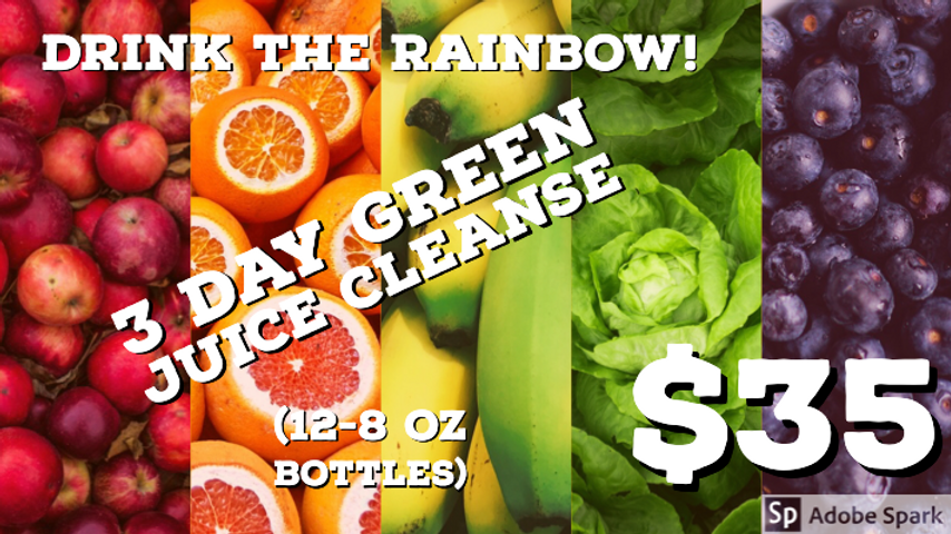 3 Day Juice cleanse 12 -12ounce pack special